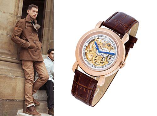 Циферблат мужских часов Vacheron Constantin прозрачный