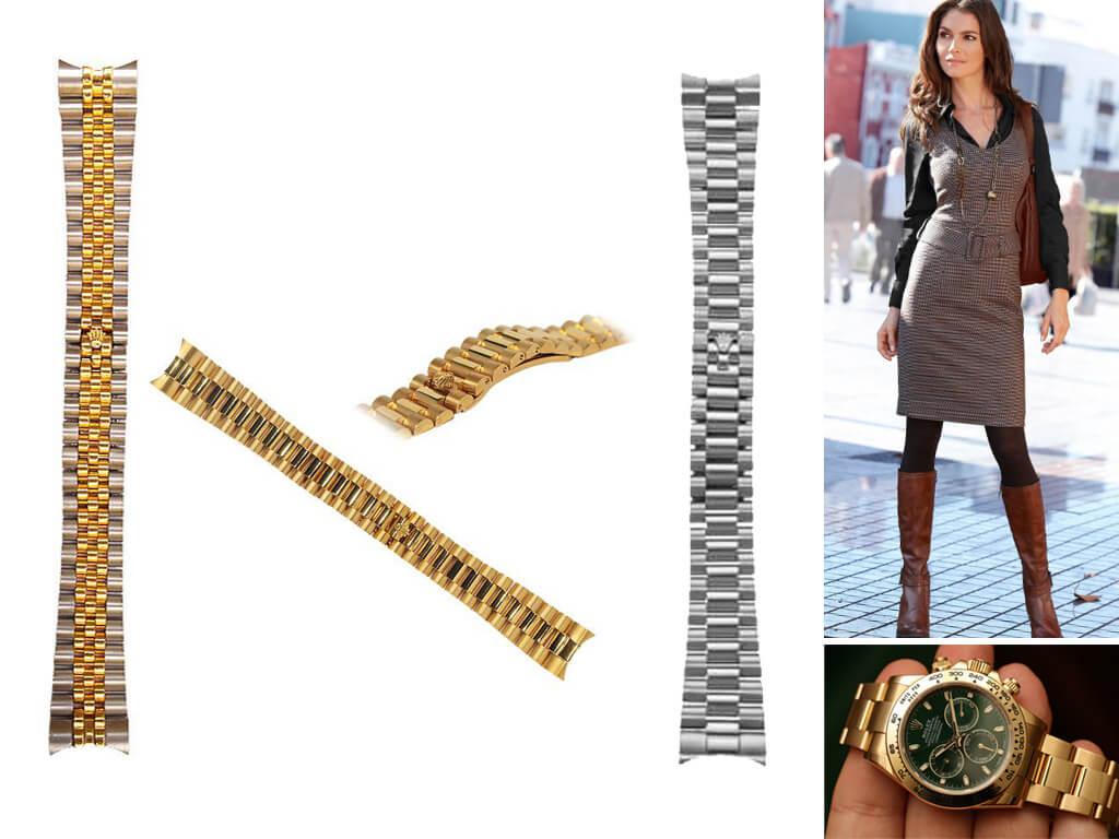 Браслеты из стали на часы Rolex