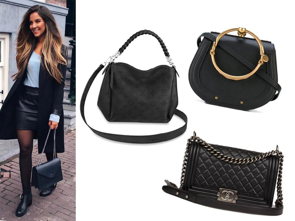 Кожаные женские сумочки черного цвета