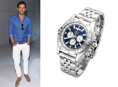 Мужские часы Breitling с комбинированным стеклом sapflex glass и антибликом