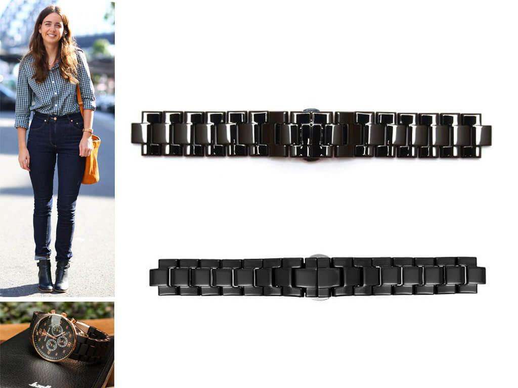 Керамический браслет для часов Emporio Armani