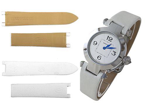 Белый ремешок для часов Cartier