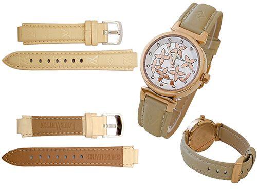 Ремень для часов Louis Vuitton бежевого цвета