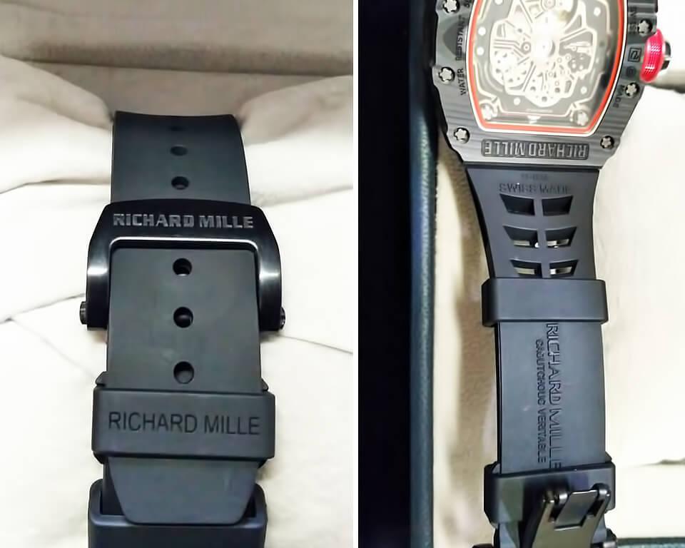 Каучуковый ремешок и стальная застежка в реплике Ришар Милль RM 50-03