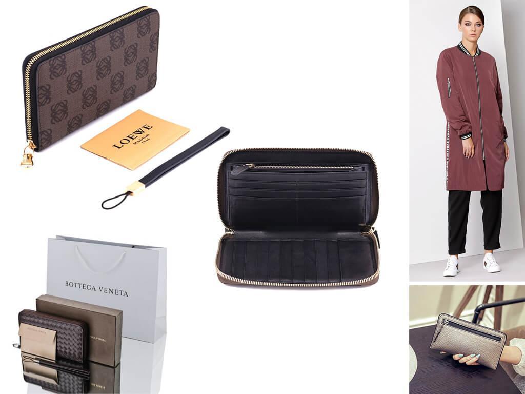 Кожаные кошельки коричневого цвета разнообразны по фактуре, декору, размерам и форме - выбрать подходящий не составит труда