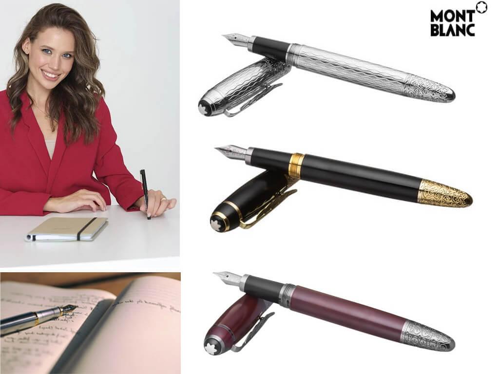 Женские перьевые ручки со стальным корпусом