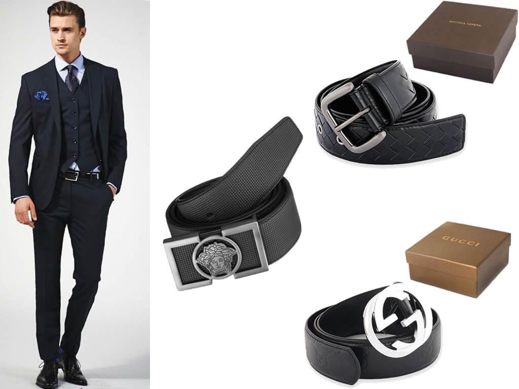 Классические мужские ремни под костюм