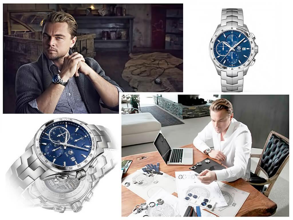 ДиКаприо стал одним из разработчиков часов TAG Heuer «Leonardo Dicaprio» Link Calibre 16 Chronograph, средства от продажи которых были перечислены на мероприятия по защите окружающей среды