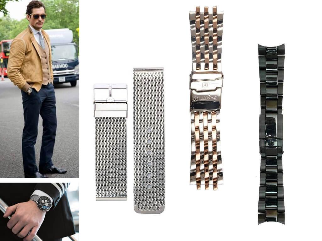 Металлический ремешок на мужские часы