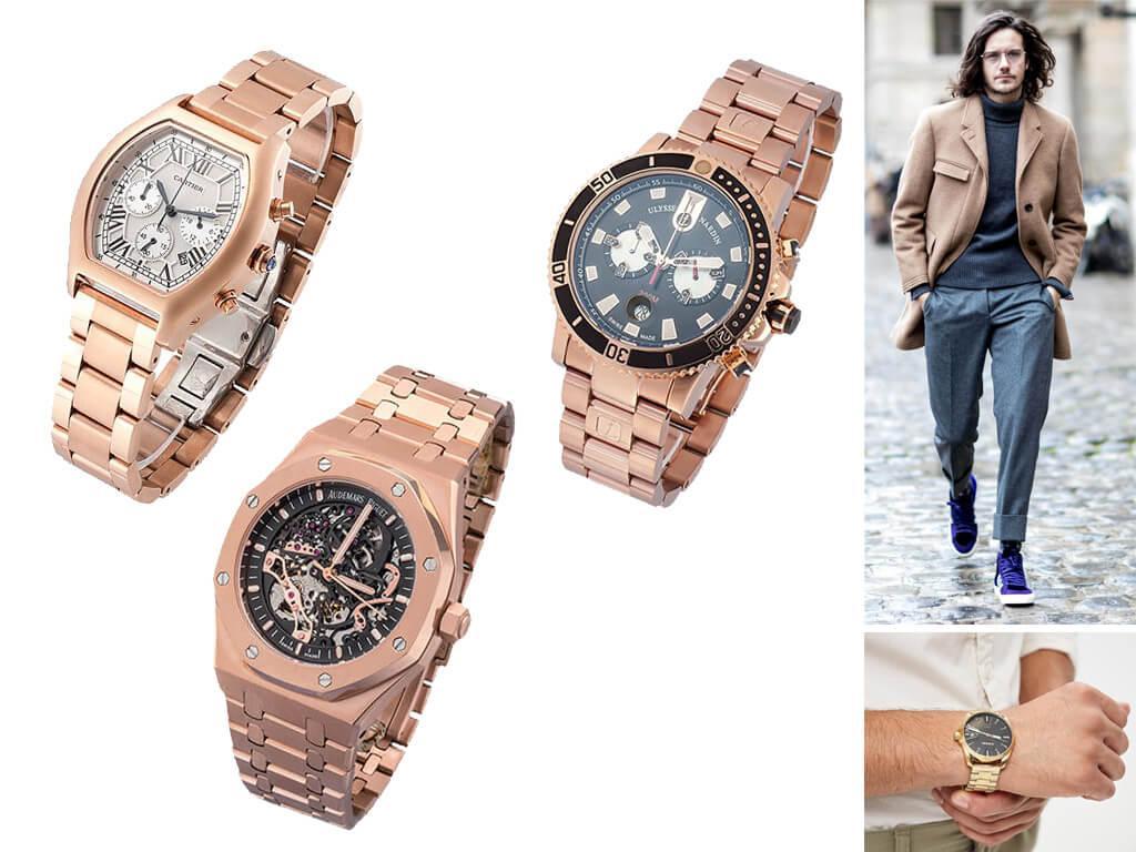 Часы мужские с металлическим ремешком