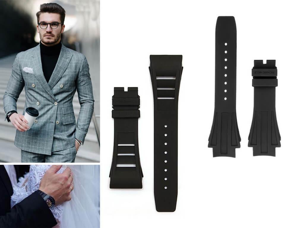 Ремень на часы Richard Mille легко регулируется по длине