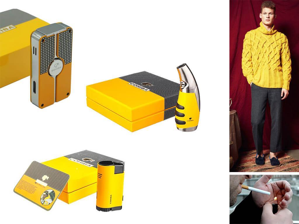 Зажигалки желтого цвета