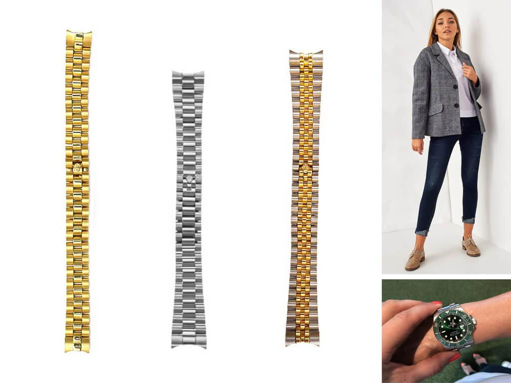 Браслет Ролекс для наручных часов создается под каждую коллекцию производителя