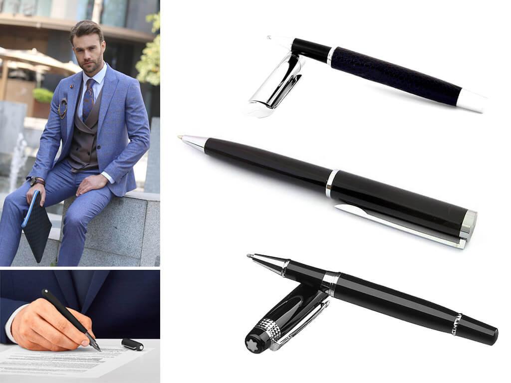 Мужские черные ручки роллеры