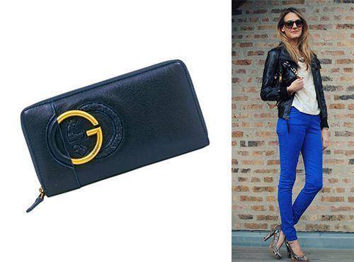 Синий клатч Gucci для девушки