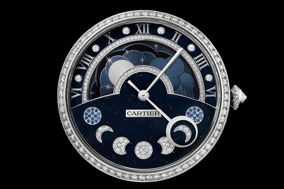 Наручные часы с лунным календарем от Cartier