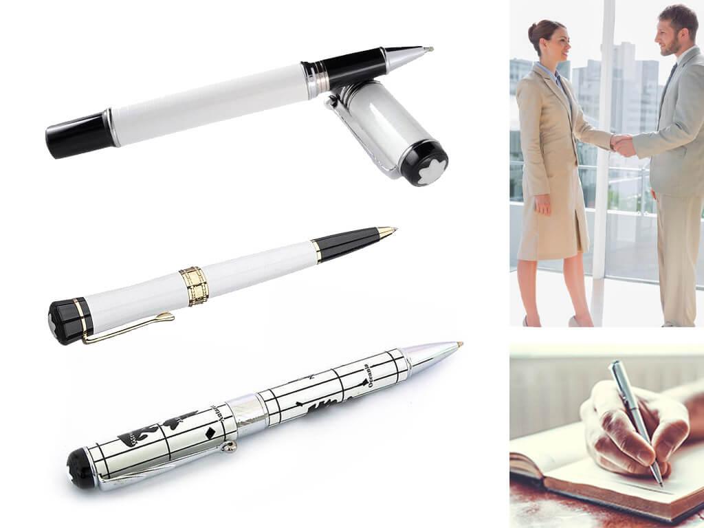 Ручки Монблан белого цвета