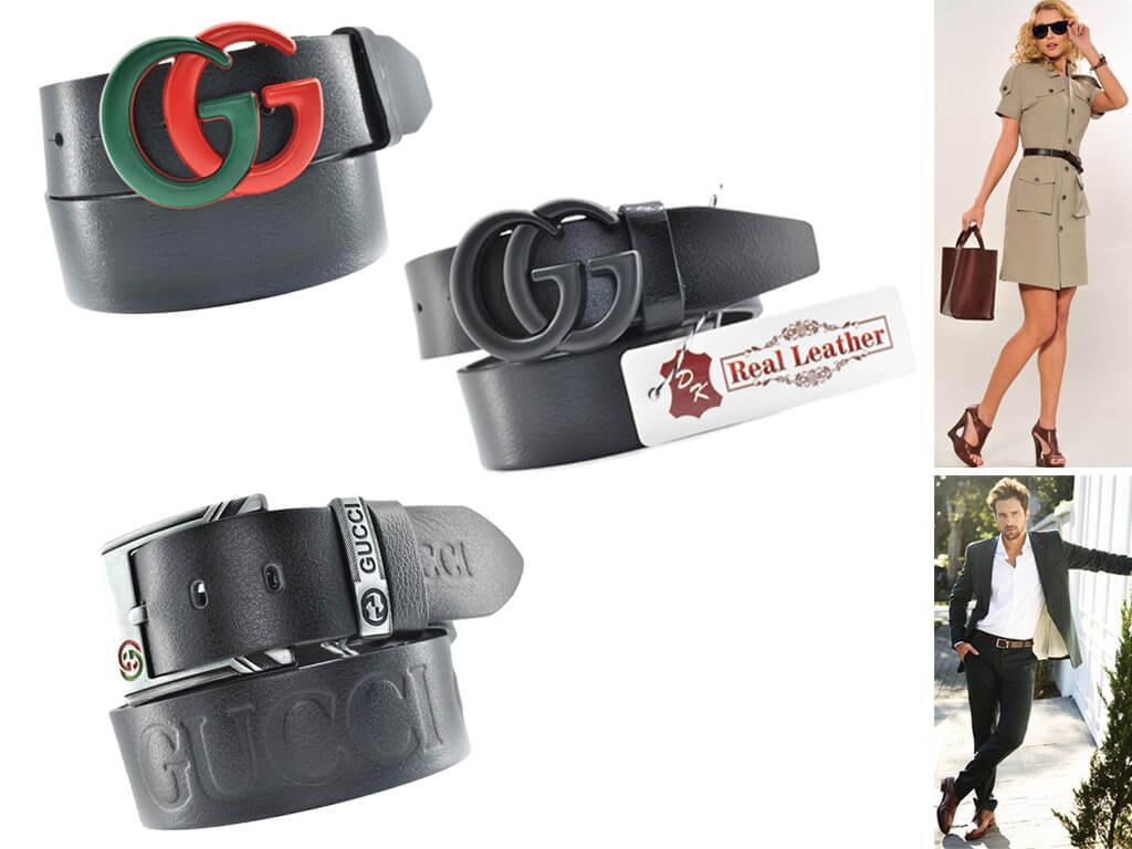 Черный кожаный ремень сочетается со всей цветовой палитрой и любым гардеробным стилем