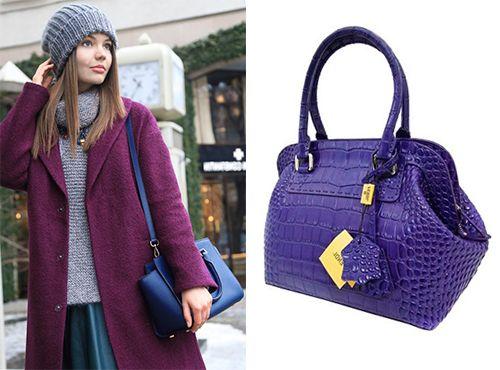 Фиолетовая сумка Fendi
