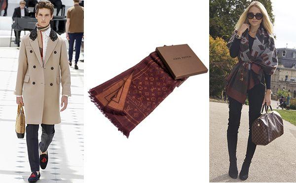 Брендовый шарф унисекс от Louis Vuitton (Луи Виттон)
