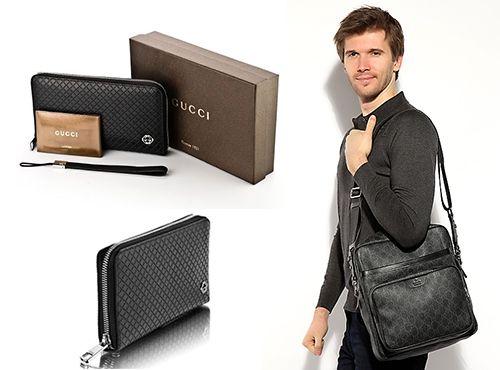 Мужской кошелек из кожи черного цвета