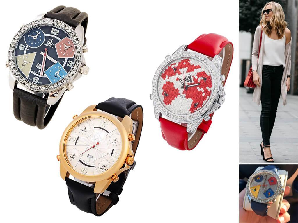 Наручные часы Jacob Co Five Time Zone