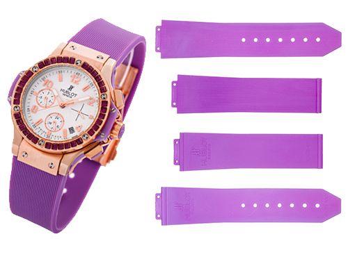 Ремень для часов Hublot фиолетового цвета