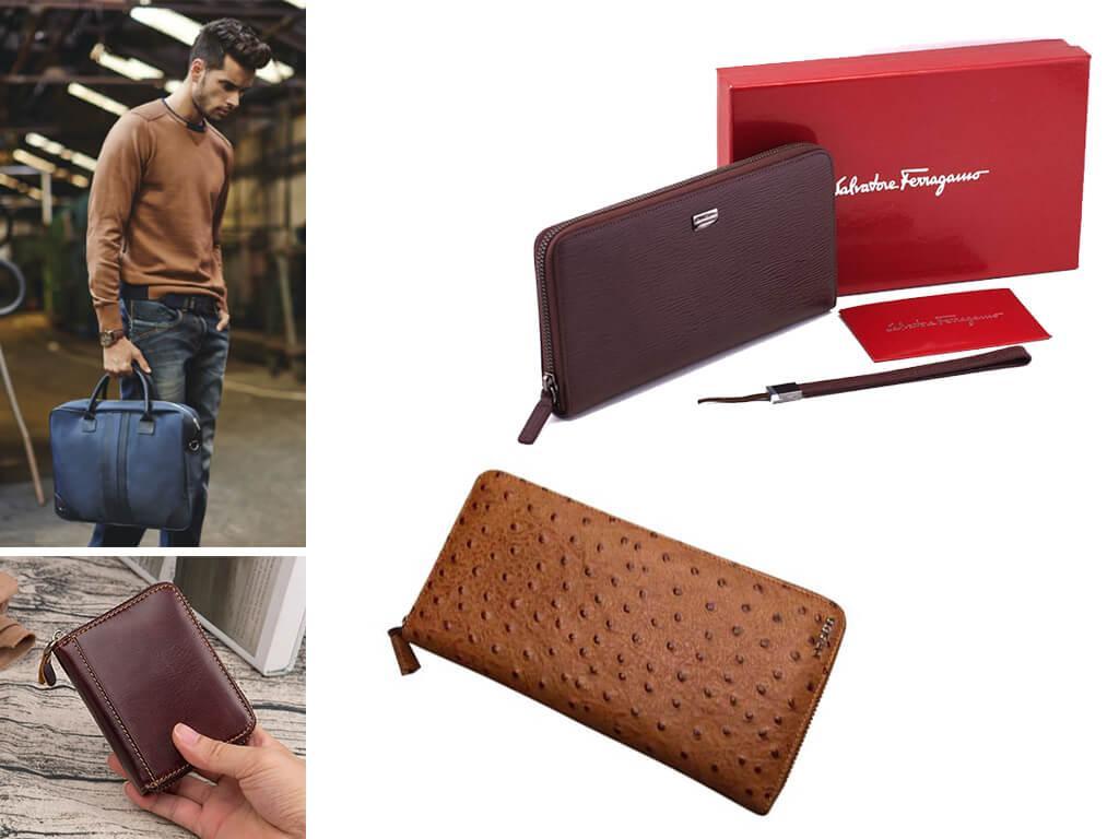 Брендовый бумажник мужской коричневый - статусный подарок близкому человеку
