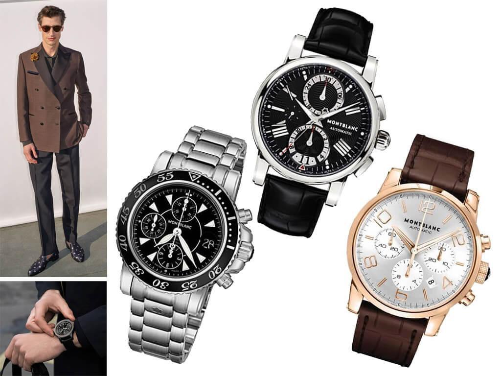 Настоящие часы Монблан мужские