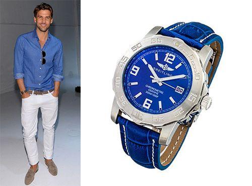 Мужские часы Breitling с циферблатом синего цвета