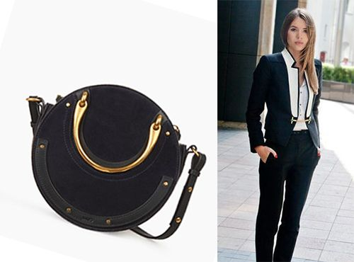 Женская черная сумка от Chloe