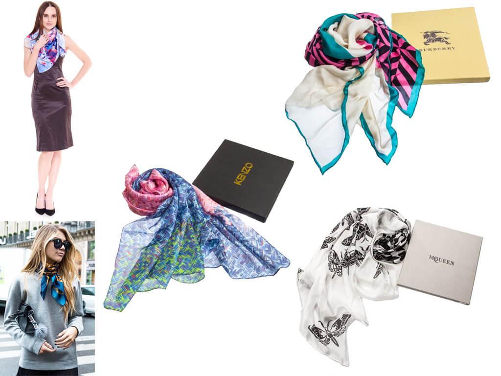 Женские платки в каталоге проекта Имидж представлены модельным рядом нескольких брендов.