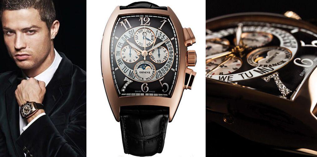 Часы Криштиану Роналду Franck Muller с цифрой 7, инкрустированной бриллиантами