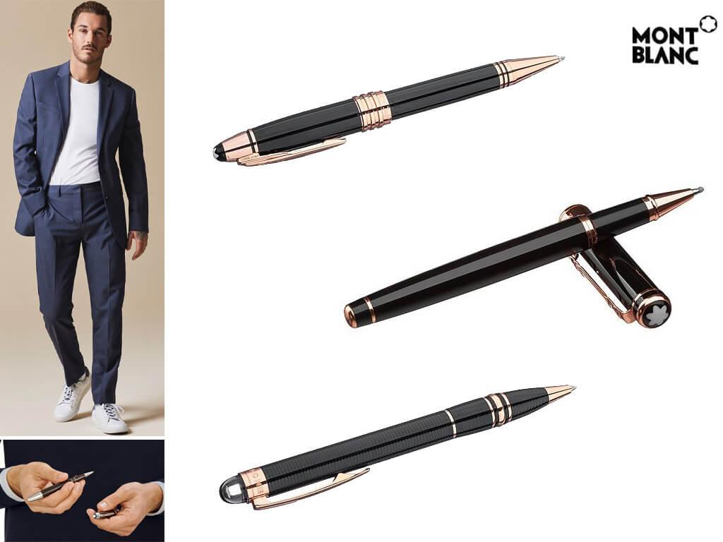 Мужские ручки с позолотой розовое золото