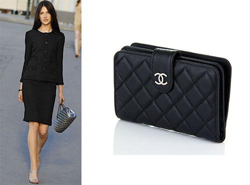 Женское портмоне из кожи Шанель