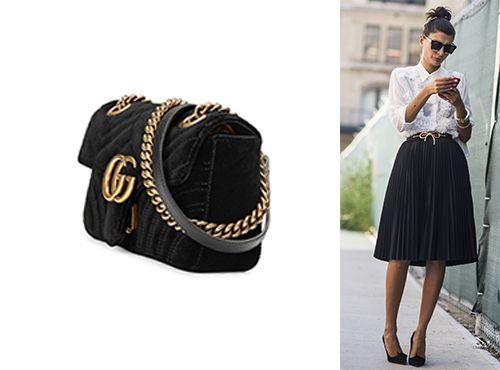 Женская сумка Gucci из бархата
