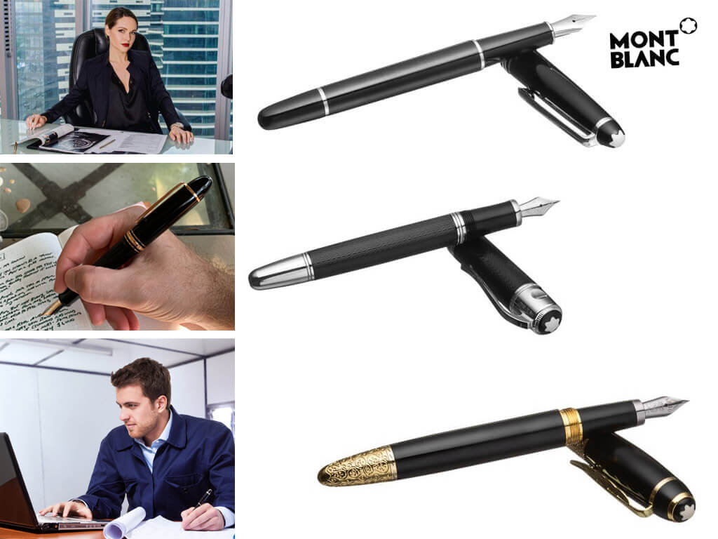 Черные перьевые ручки