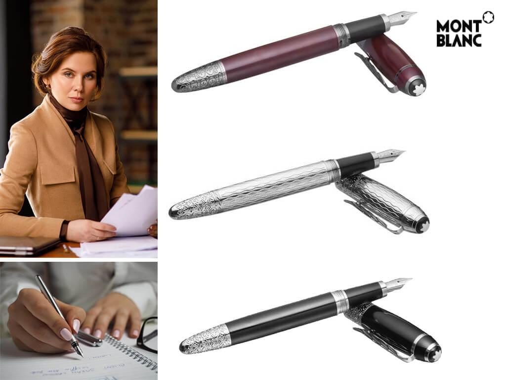 Перьевые ручки Montblanc с колпачком