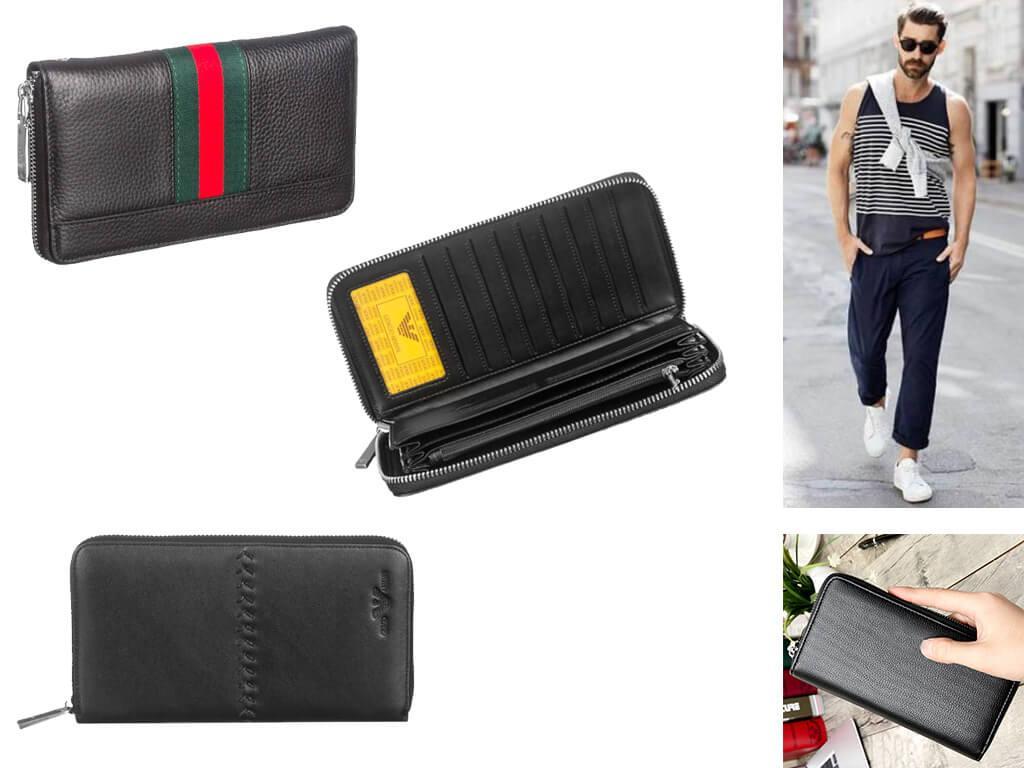 Черный кошелек на молнии - сочетание высокого модного стиля и практичности