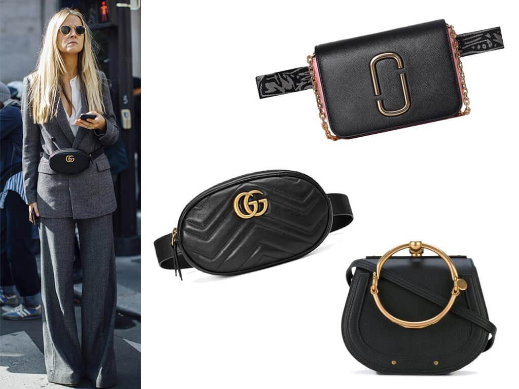 Черные кожаные сумки женские