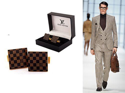 Запонки от Louis Vuitton