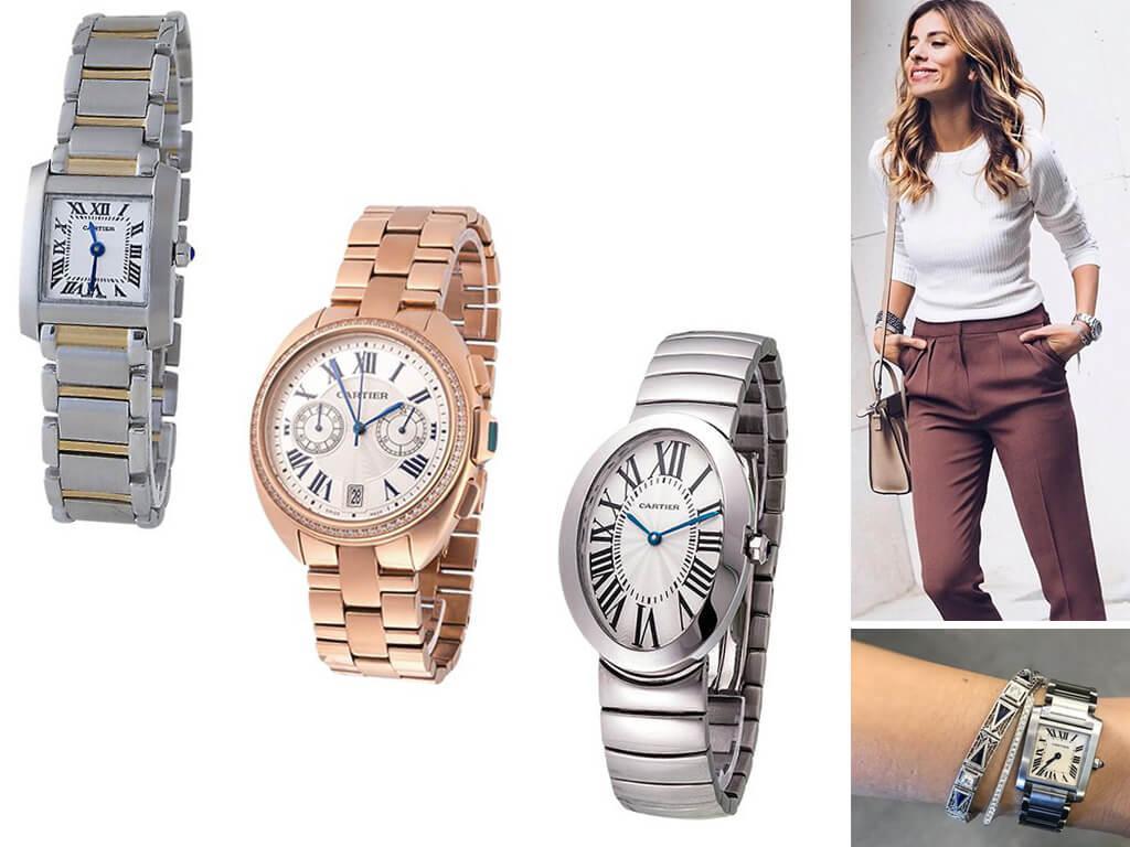 Часы Картье с браслетом женские