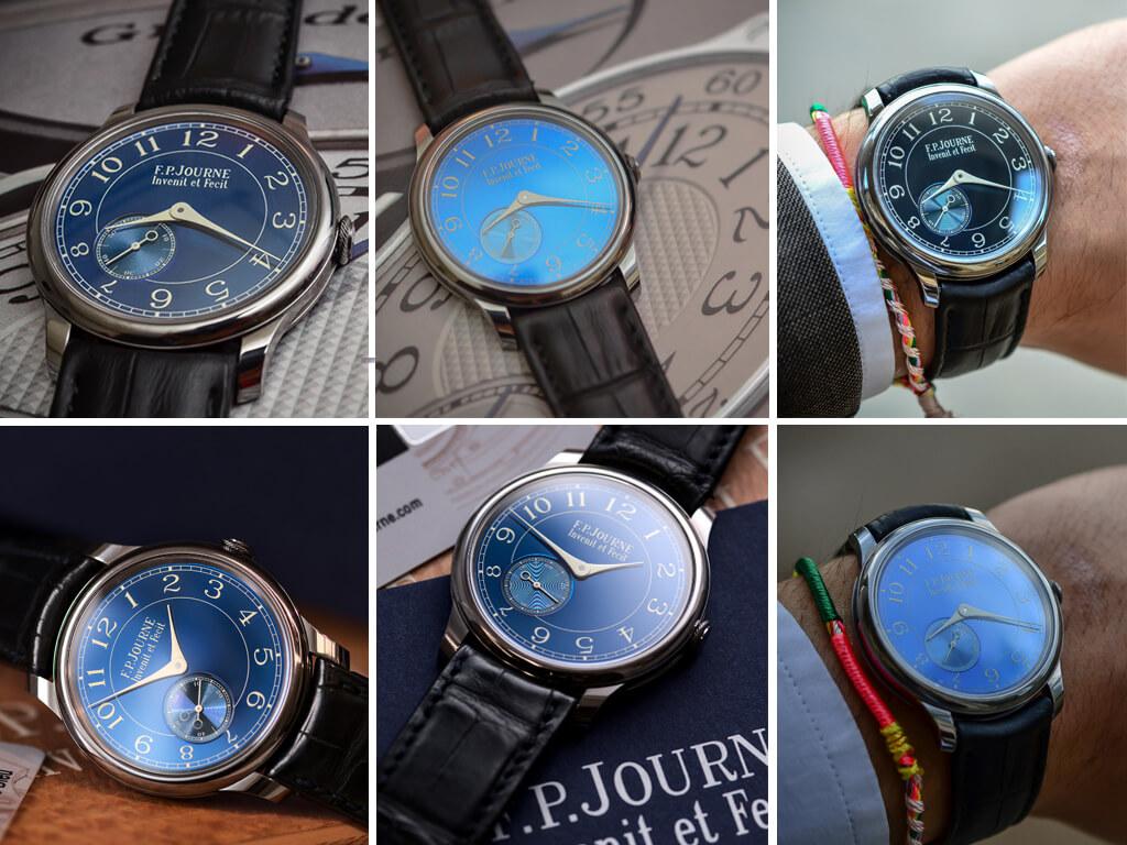Часы с зеркальным циферблатом F.P. Journe Chronomètre Bleu