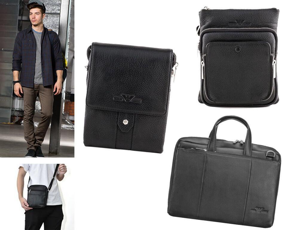 Кожаные сумки для мужчин Armani