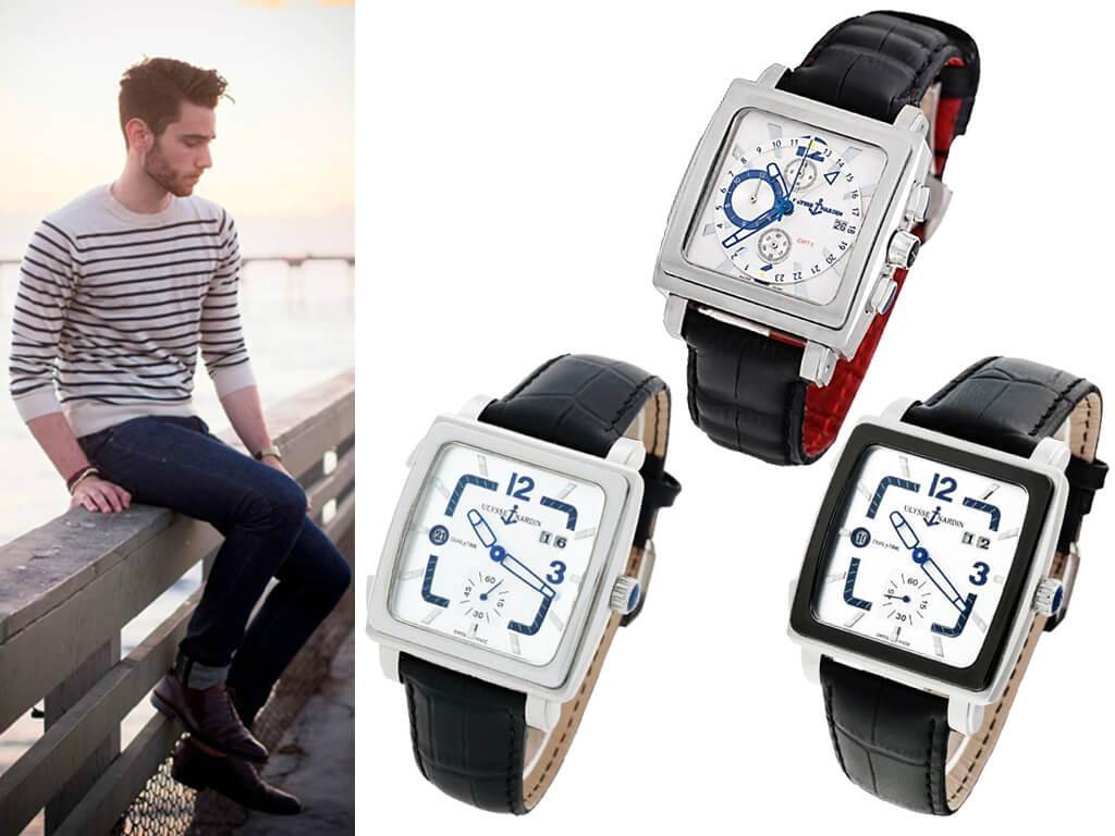 Часы мужские Ulysse Nardin Quadrato Dual Time из коллекции Classic