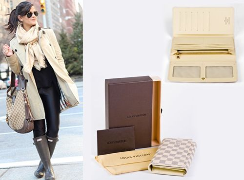 Кожаный бумажник женский Louis Vuitton