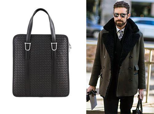 Мужская сумка Bottega Veneta без ремня через плечо