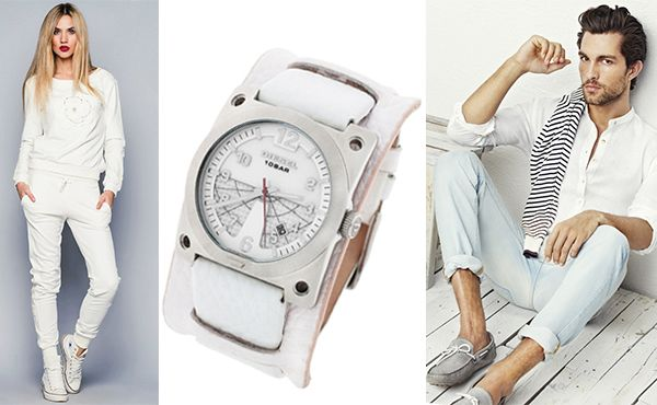 Часы Diesel с циферблатом белого цвета