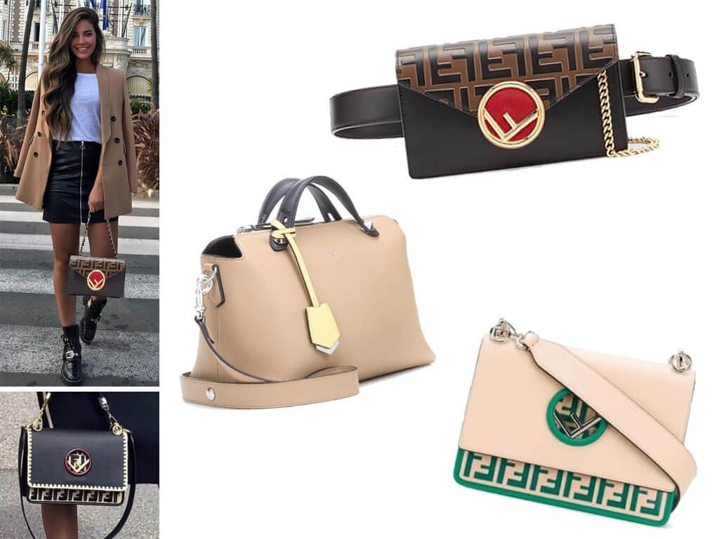 Женские кожаные сумки Фенди