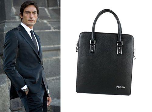 Мужская сумка Prada с длинными ручками